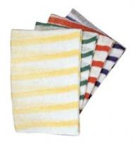 Colour Coded Striped Stockinette Dish Cloth(10)